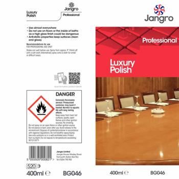 Jangro Luxury Wax Furniture Polish Commercial Polish