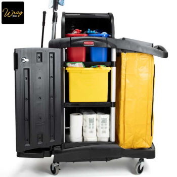 Useful storage for Rubbermaid Trolley