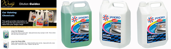 jangro car valeting chemical dilution tips