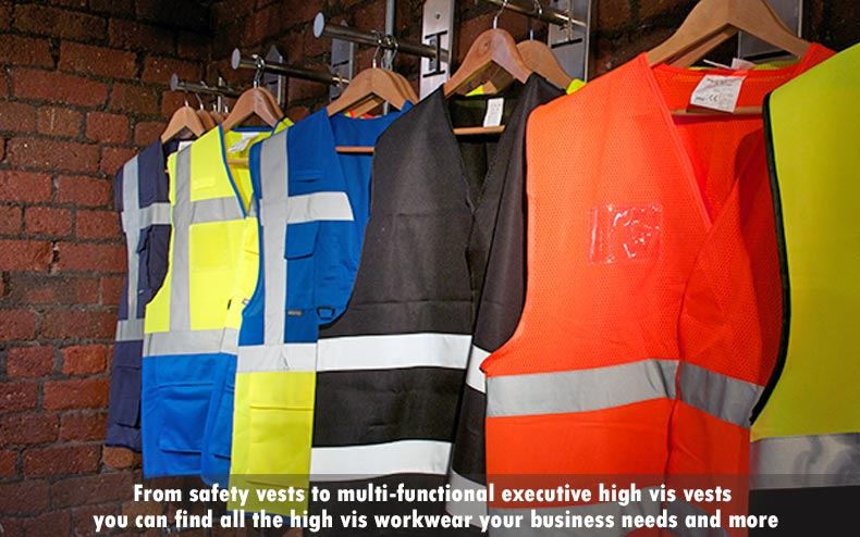 safety vests and high vis workwear from Wray Bros liverpool workwear trade counter