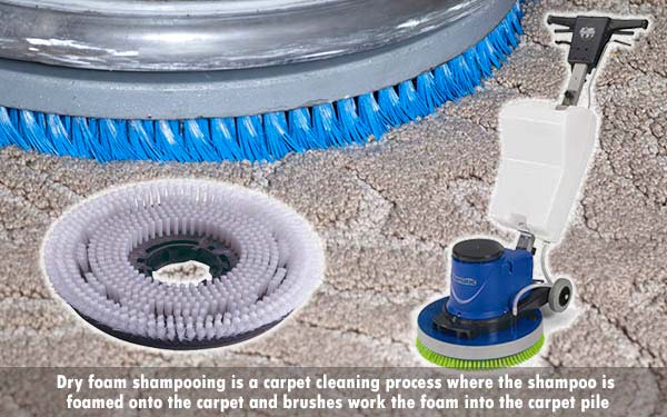 discover how to clean carpets by dry foam shampooing with Jangro carpet cleaning chemicals and rotary machine