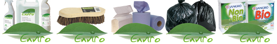 Enviro range including paper, brushes and cleaning chemicals