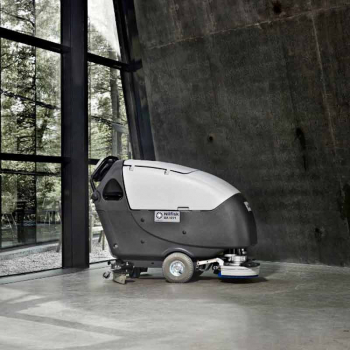 Nilfisk branded powerful scrubber dryer
