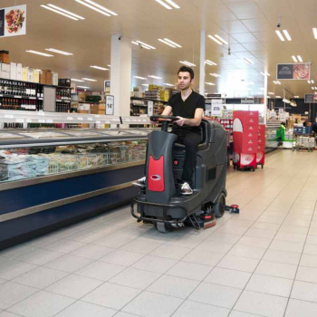 Viper branded ride on scrubber dryer