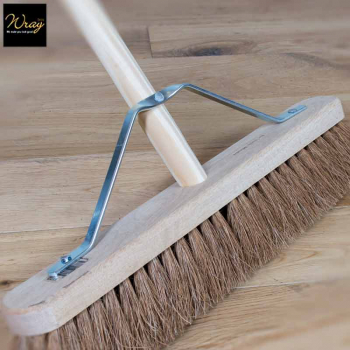 For sweeping dry, dusty surfaces