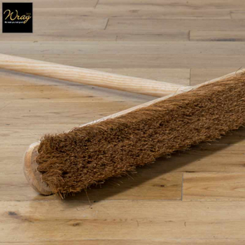 Soft broom with handle for sweeping dust
