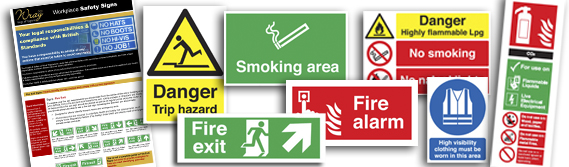 Safety signs for work