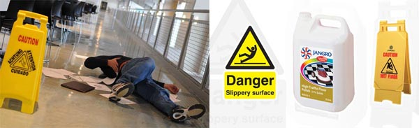 Floor cleaning reduces instances of slips, trips and falls