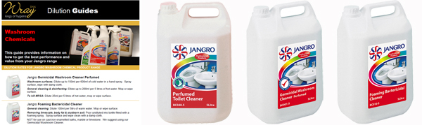 jangro washroom chemical dilution tips