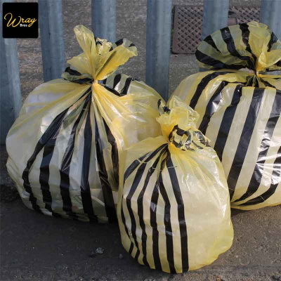Yellow Tiger Striped Clinical Sacks