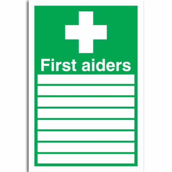 First Aiders (with spaces) and symbol Sign