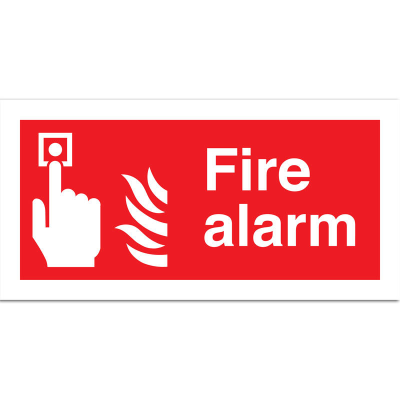 Fire Alarm with Flames Sign