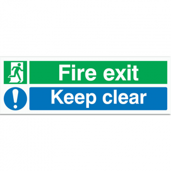 Fire Exit & Keep Clear Sign