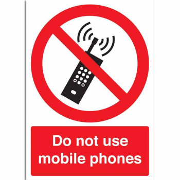 Do not use mobile phones Sign