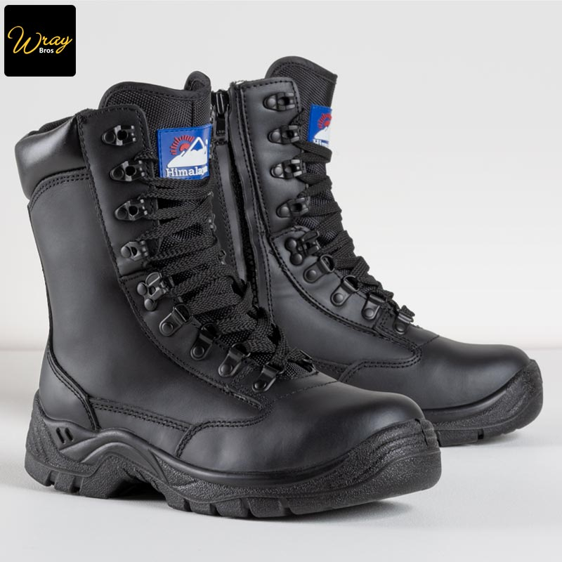 Himalayan Black Leather High Cut Safety Boot S3 5060
