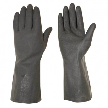 Heavy Duty Black Rubber Glove