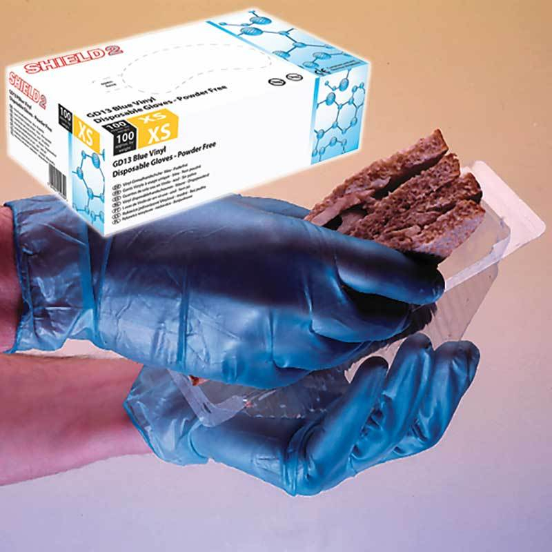 Vinyl Disposable Gloves Powder Free - Blue