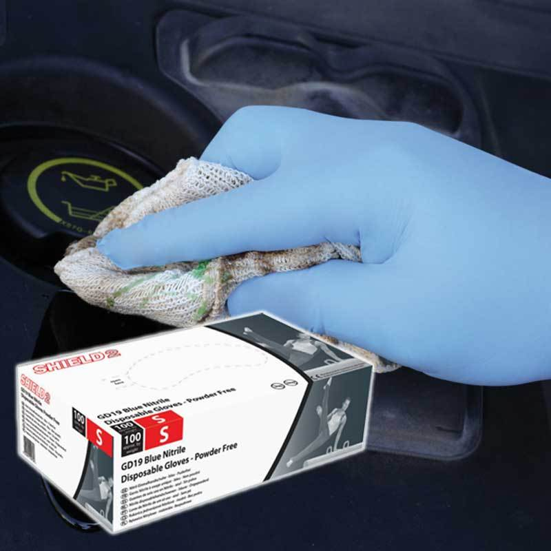Blue Powder Free Nitrile Disposable Gloves