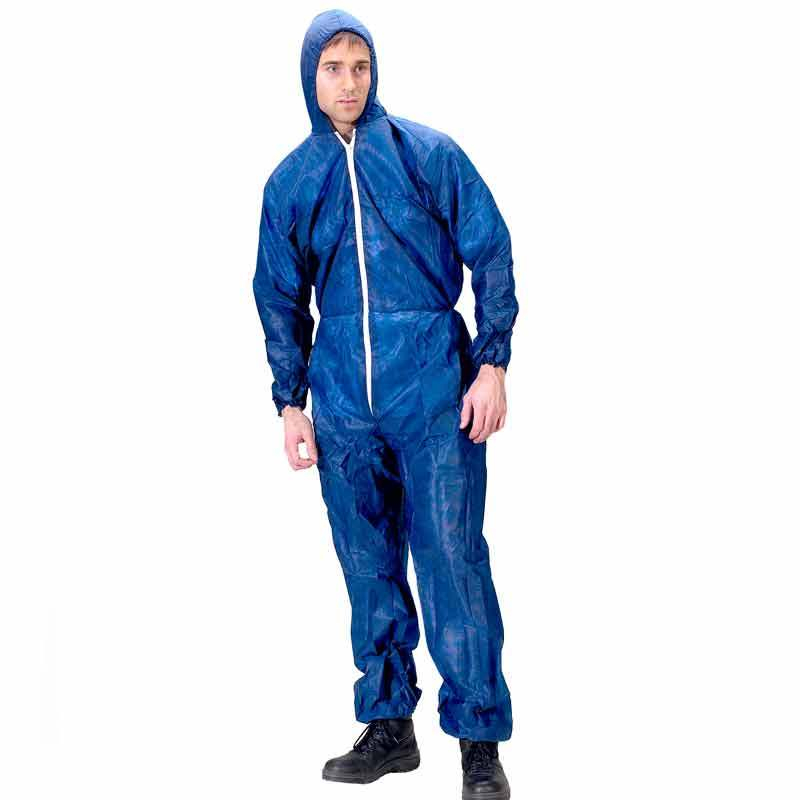 Disposable Blue Hooded Overall