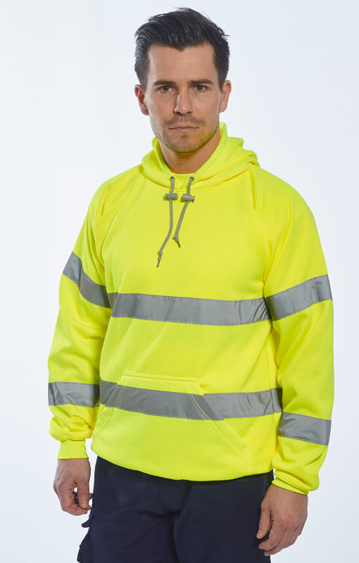 Portwest High Vis Hooded Sweatshirt B304