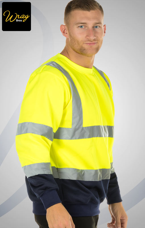 Portwest Two Tone Hi Vis Sweatshirt B306