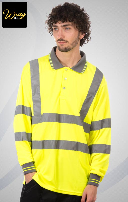 Portwest Hi-Vis Long Sleeved Polo S277