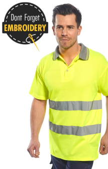 Portwest Cotton Comfort Hi Vis Polo S171