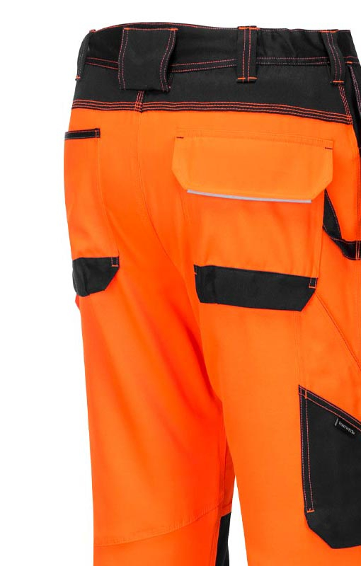 PORTWEST PW3 Hi Vis Holster Work Trousers Contrast Safety Pockets Knee Pads T501