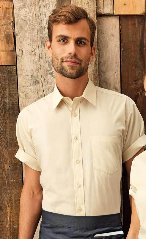 Mens Short Sleeve Poplin Shirt PR202