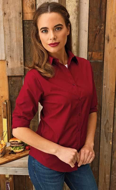 bbae9df75fd43 Premier Ladies Long Sleeve Poplin Blouse PR300 - Wray Bros
