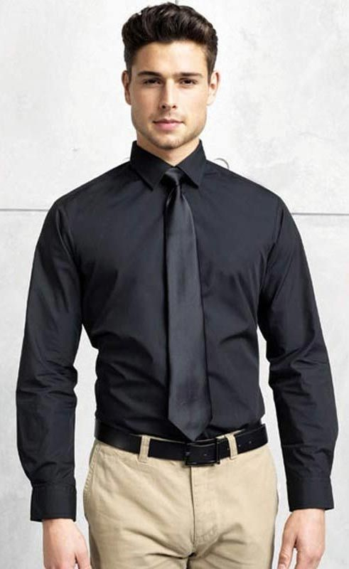 Mens Long Sleeve Poplin Shirt PR200