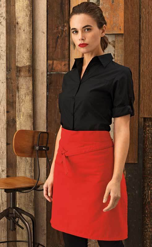 Ladies Roll Sleeve Poplin Blouse PR306