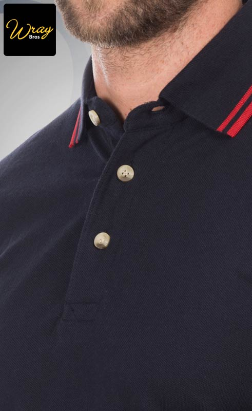Henbury Tipped Collar And Cuff Polo Shirt HB150