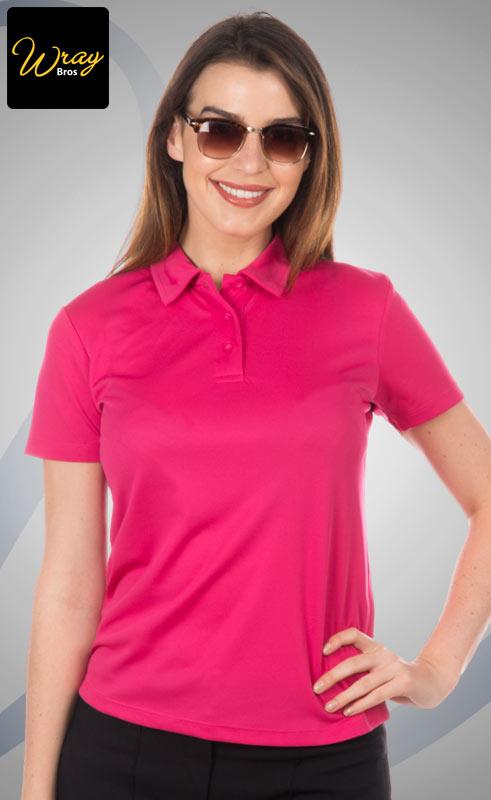 712bc70b AWD Ladies Cool Breathable Polo Shirt JC045 - Wray Bros