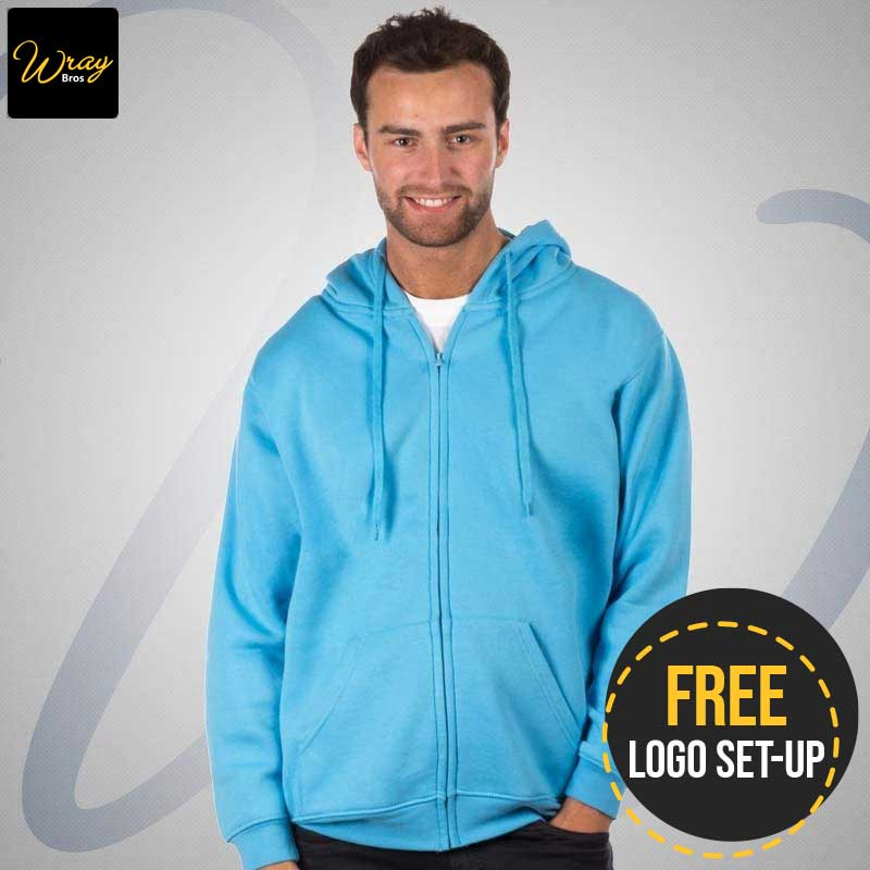 Uneek Mens Classic Full Zip Hooded Sweatshirt UC504