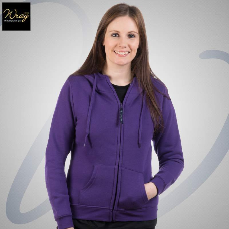 Uneek Ladies Classic Full Zip Hooded Sweatshirt UC505