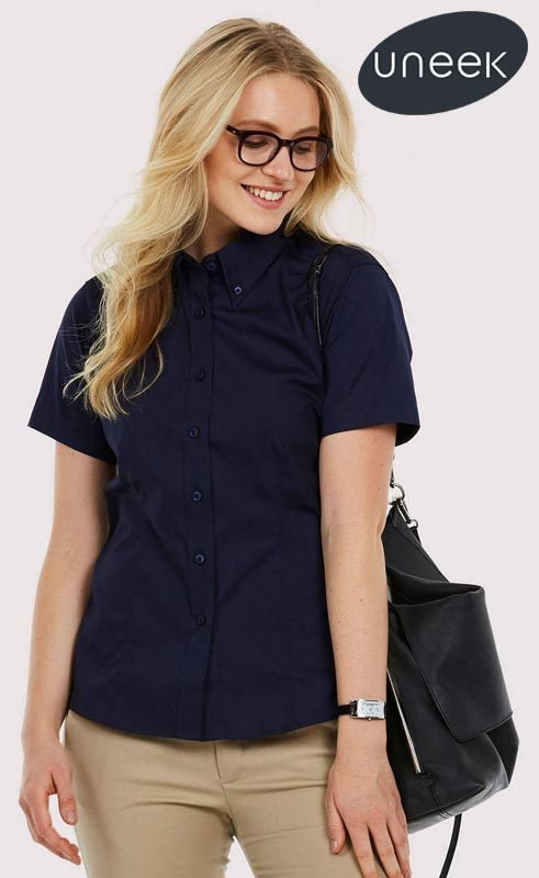 Uneek Ladies Pinpoint Oxford Shirt UC704