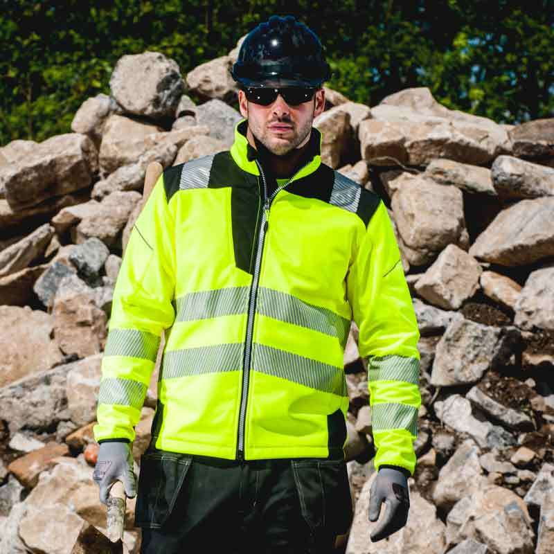 Portwest PW3 Hi-Vis Softshell Jacket T402
