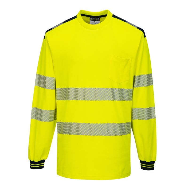 Portwest PW3 Hi-Vis T-Shirt Long Sleeve T185