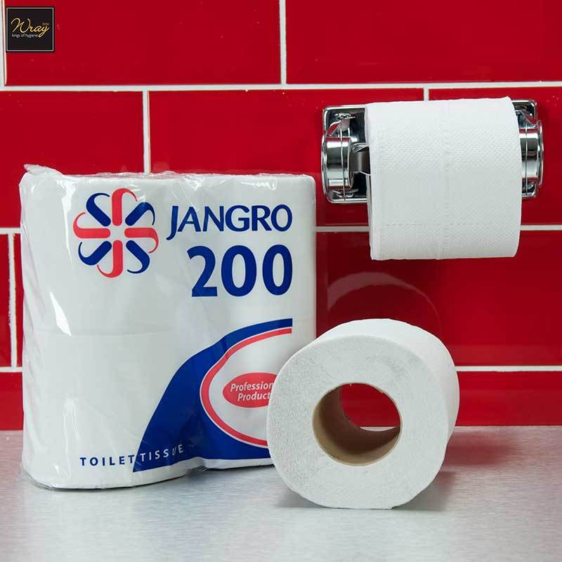 Jangro Toilet Roll Twin Wrapped, 200 sheet