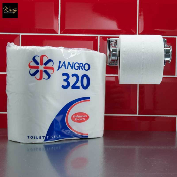 Jangro Toilet Roll Twin Wrapped, 320 sheet