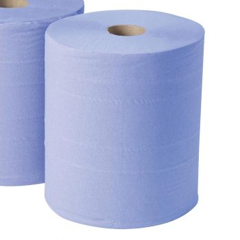 Jangro Blue Centrefeed Roll, 3 ply x 6