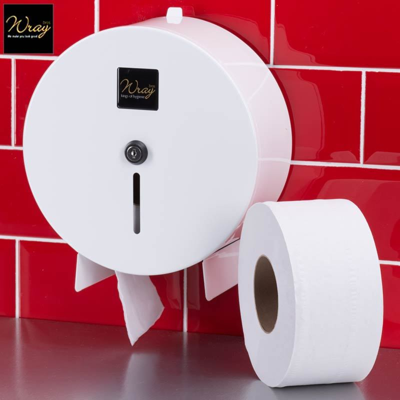 Mini Jumbo Toilet Roll Dispenser Metal