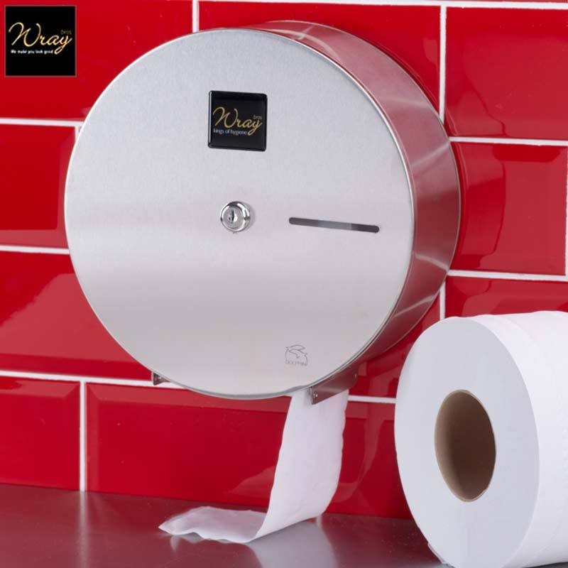Mini Jumbo Toilet Roll Dispenser Stainless Steel