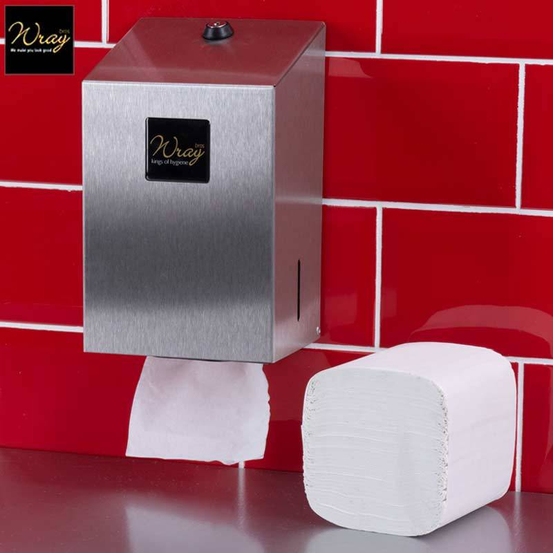 Bulk Pack Toilet Tissue Dispenser Stainless Steel