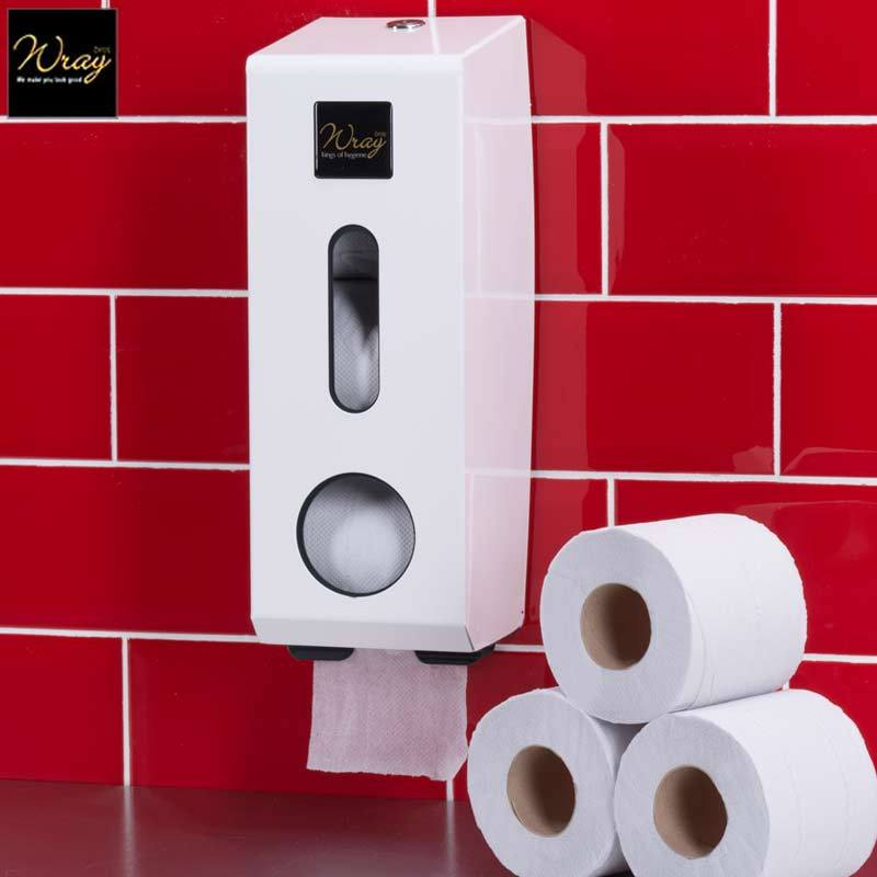 3-Roll Standard Toilet Roll Dispenser Metal