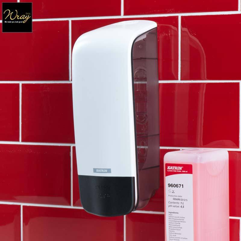 Katrin Inclusive 1000ml Soap Dispenser White 90229