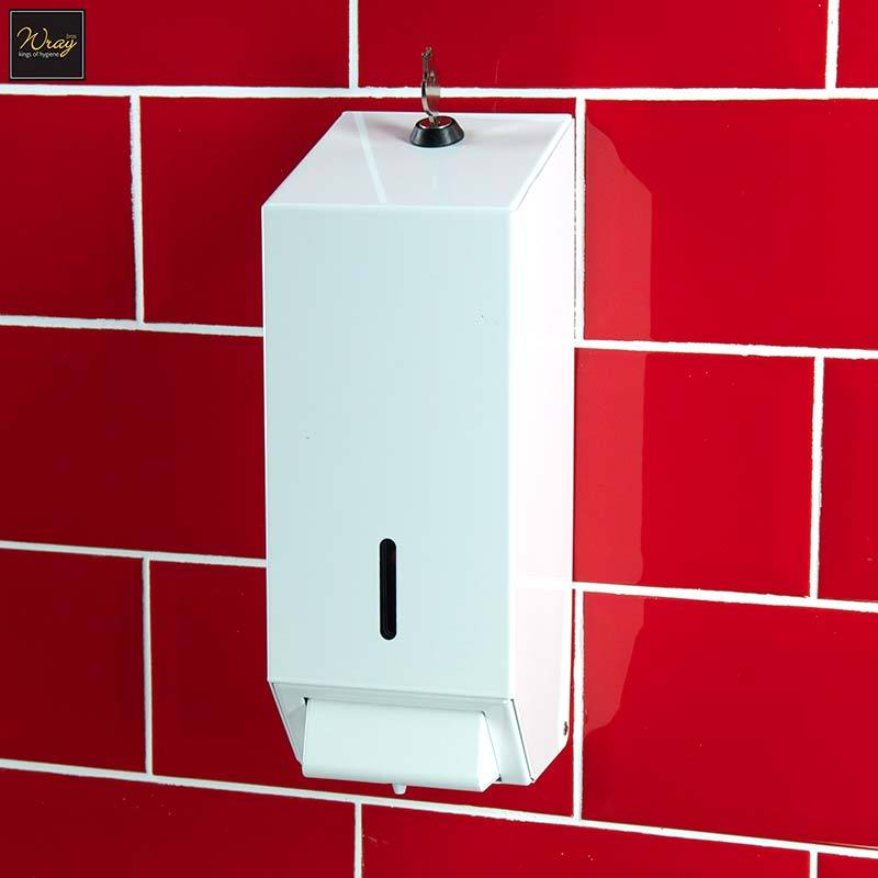 Soap Dispenser, White Metal