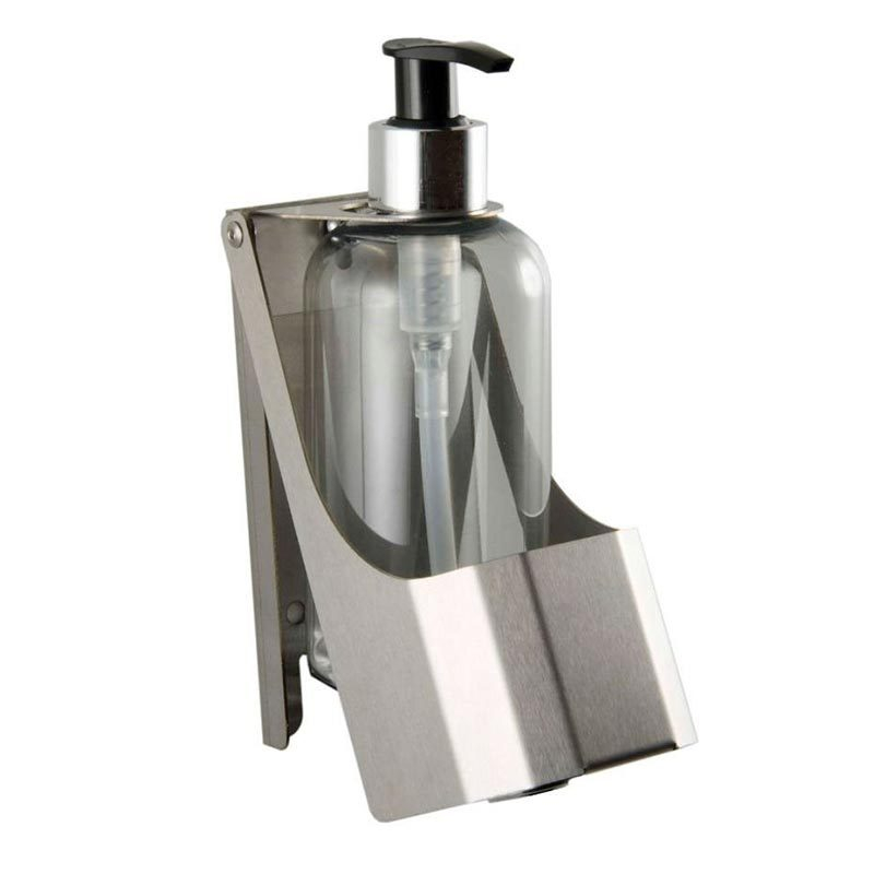 Brushed Stainless Steel Single Soap Bottle Holder
