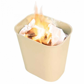Fire Resistant Waste Basket Beige